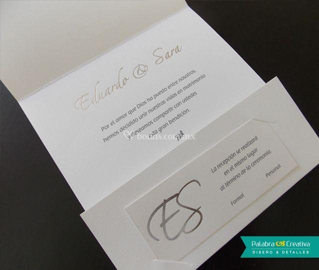 Invitación de boda e&s.
