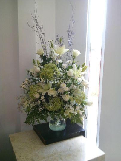 Ambientación hortensias, rosas