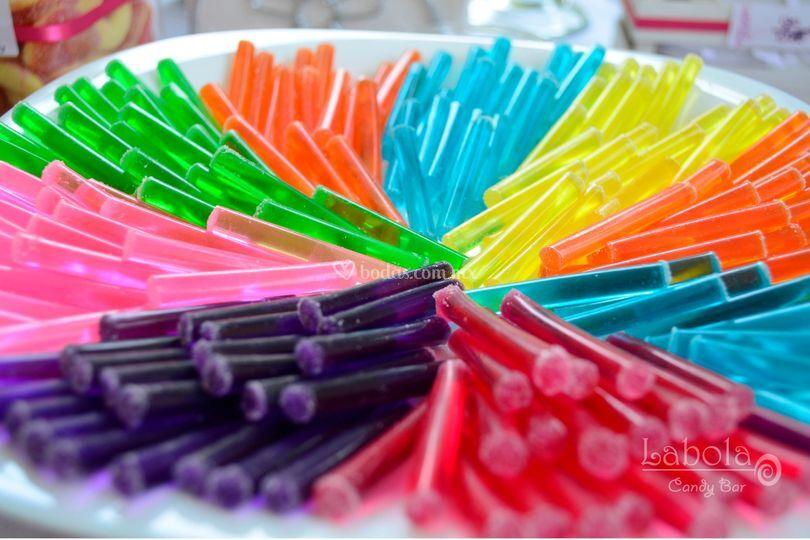 Velitas de gelatina deliciosas
