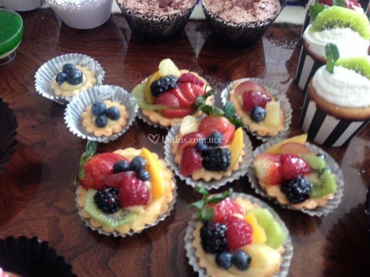 Tartaleta dulce con frutas
