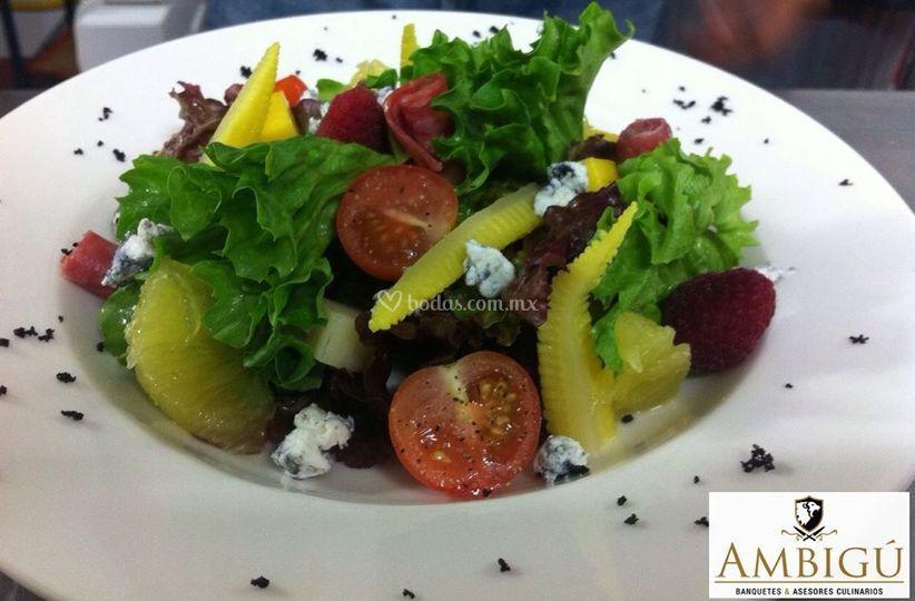 Ambig banquetes for Platos gourmet