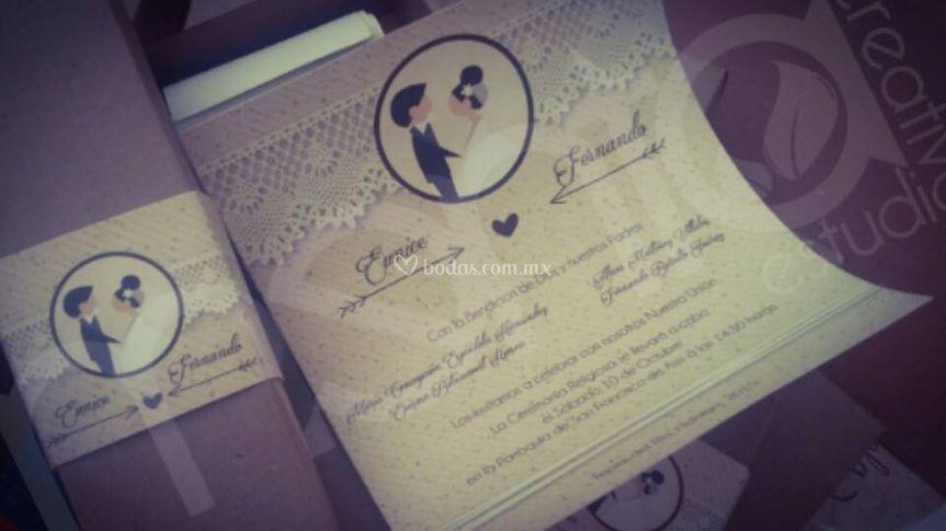 Invitación vintage