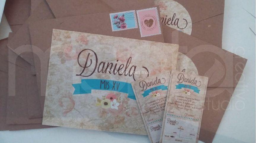 Invitación postal vintage