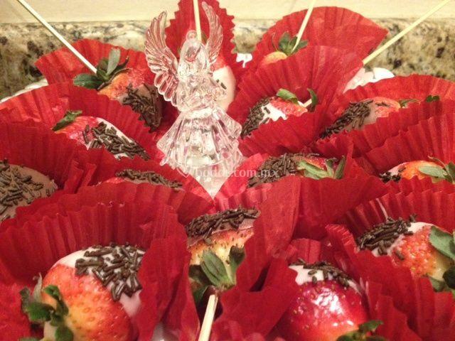 Fresas con chocolate