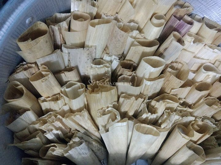 Tamales de hoja de maiz