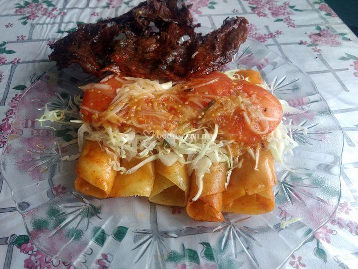 Plato de enchiladas