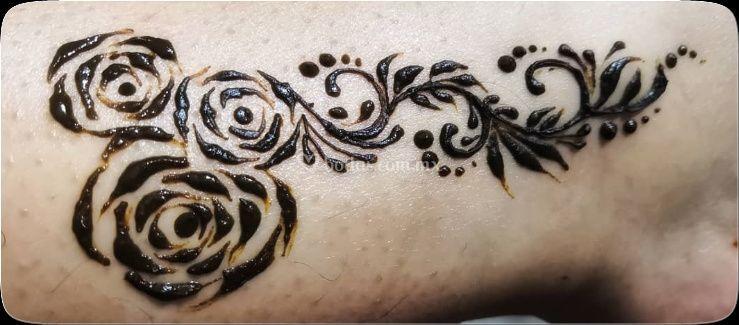 Henna art en la piel