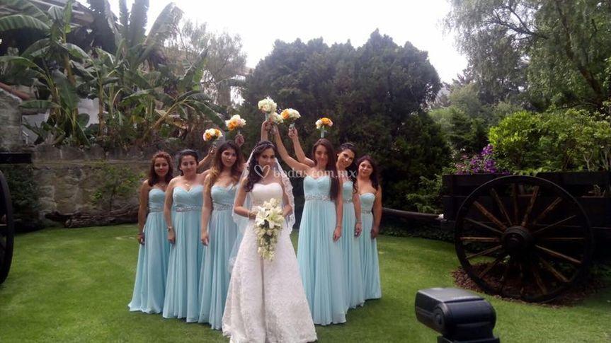 Ramo para novia y damas