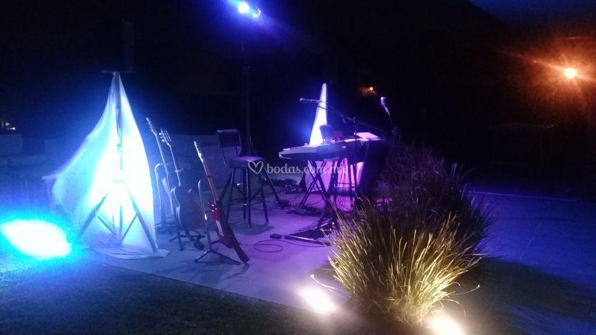 Audio e iluminación de punta