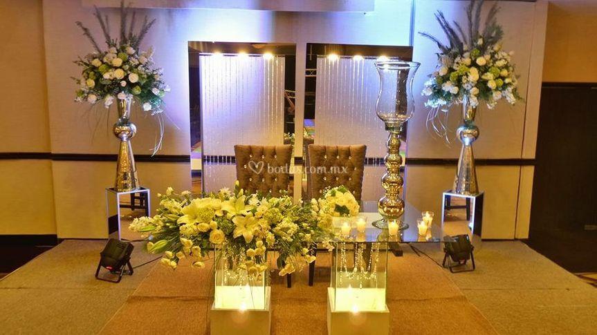 Mesas de honor decorada