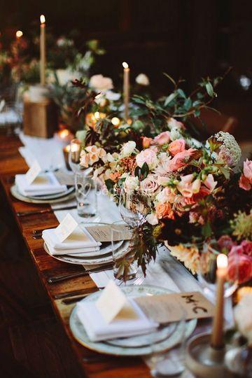 Mesa rosas