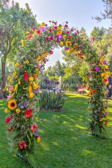Portal de flores