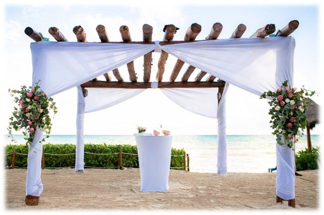 Ceremonia en playa gazebo