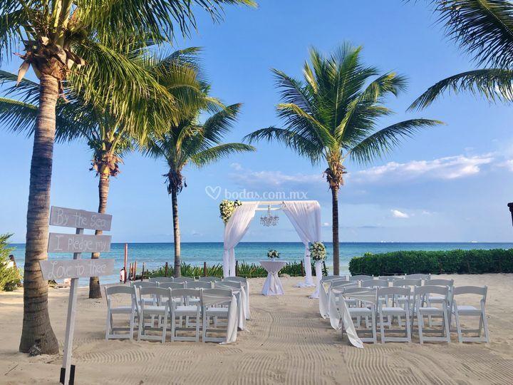Ceremonia playa gazebo