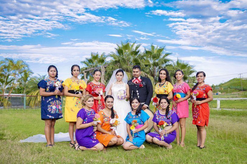 Una boda muy a la mexicana