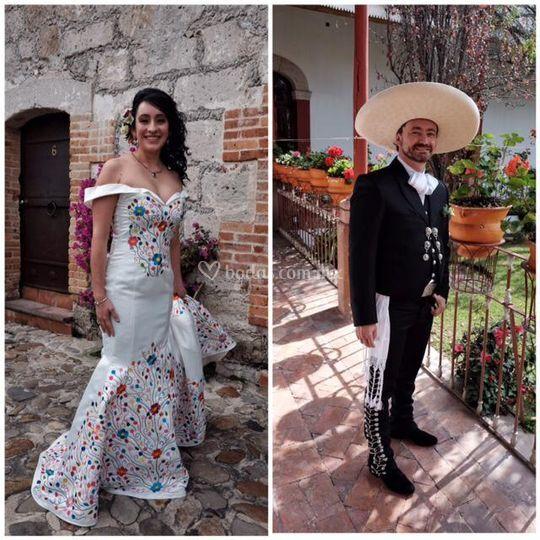 Vestido bordados mexicano