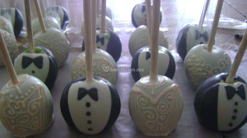 Manzanas novio-novia