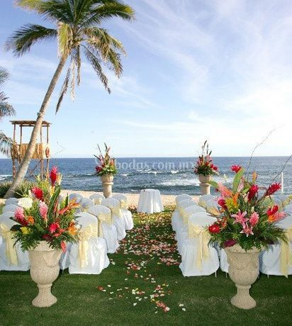 Decoración boda en la playa