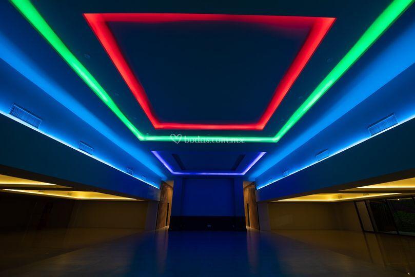 Centro iluminado