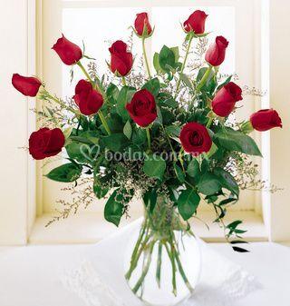 Decoración con rosas