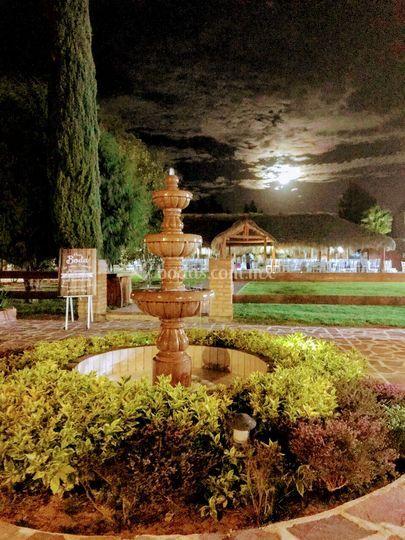 Jardín noche para un gran día