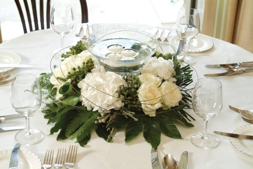 decorascion recepcin centro de mesa hortencia