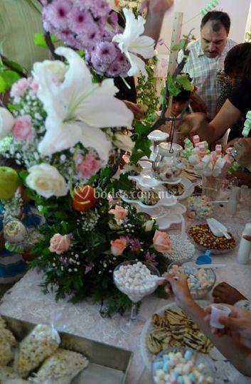 Barra dulce para boda