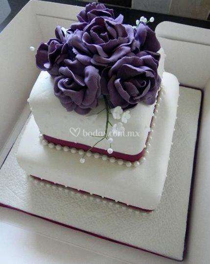 Pastel violeta