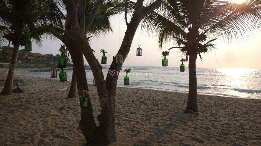Decoración de la playa