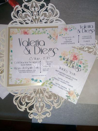 Invitación boda corte láser