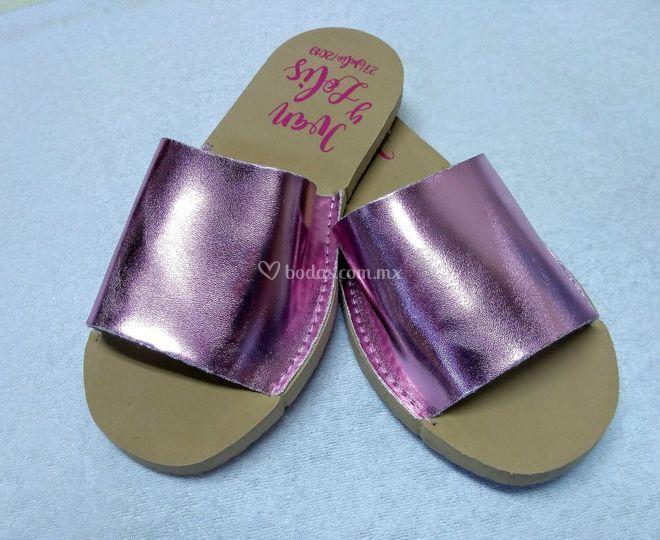 Sandalia Camel rosa gold