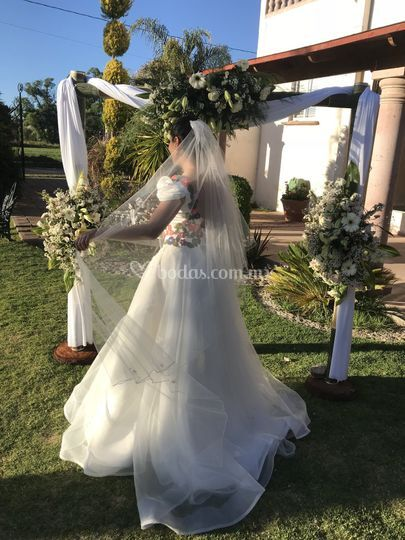 Espalda de la novia