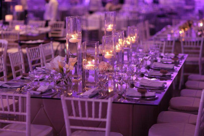 Detalle de las mesas