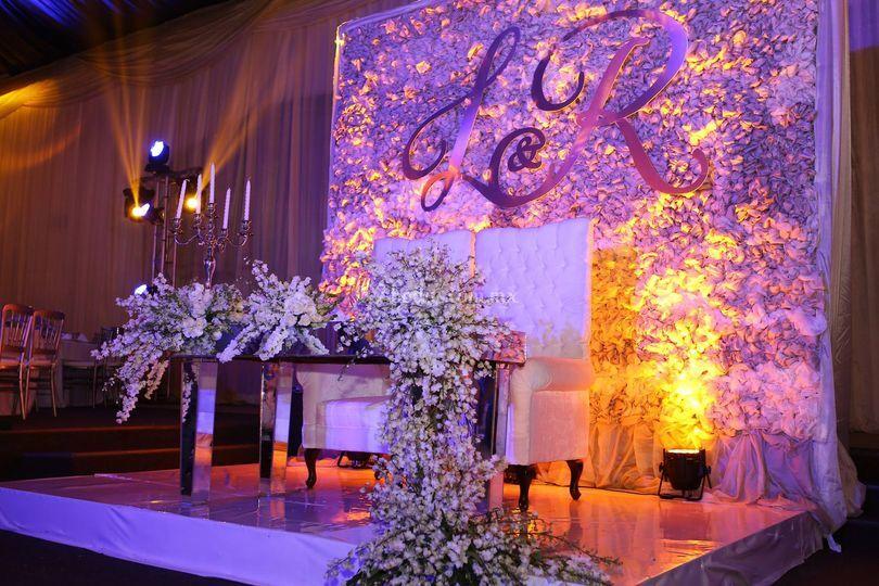 Mesa de honor para bodas