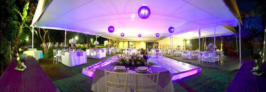 Jardín noche de Antara Banquetes