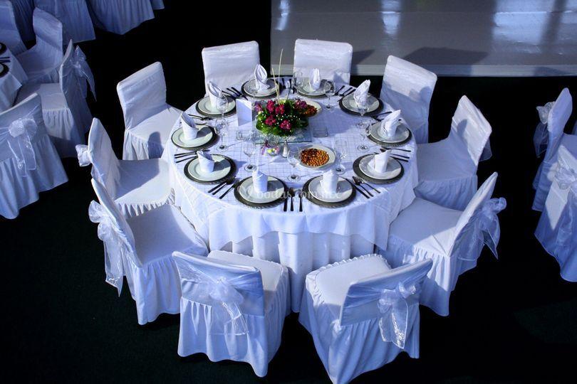 Ejemplo de mesa montada