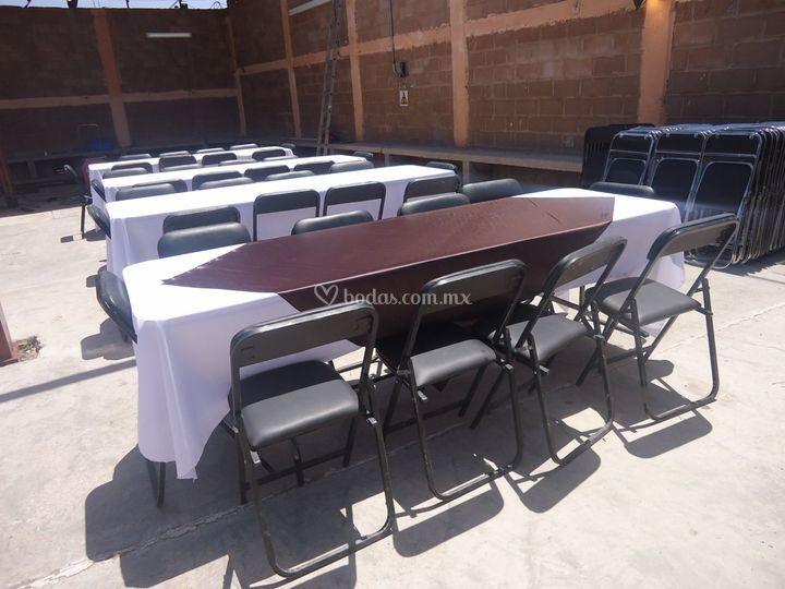 Mesa rectangular 10 sillas