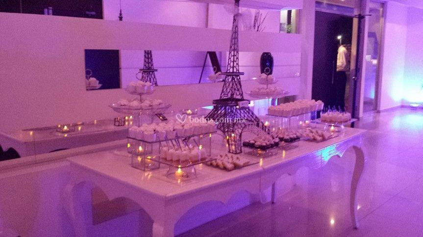 Mesa francesa decoración París