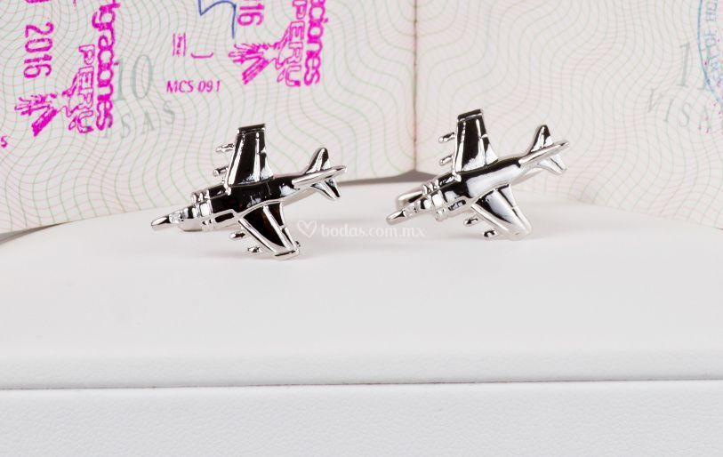 Mancuernillas avión militar