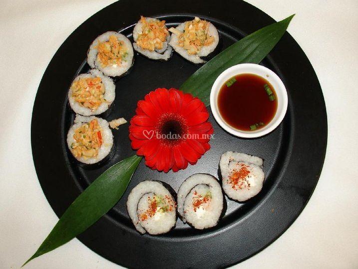 Decoración de sushi