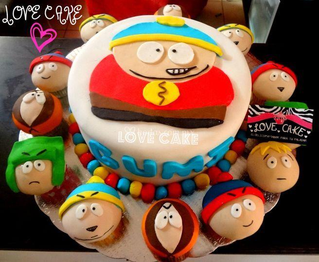 Pasteles De Fondant Love Cake