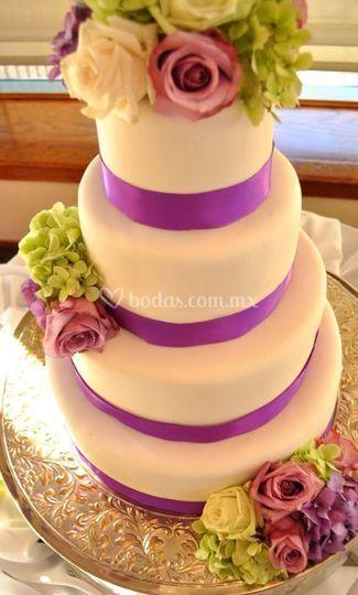Tu boda con un pastel de Fondant