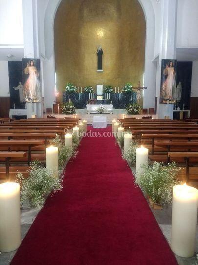 Cirios altar