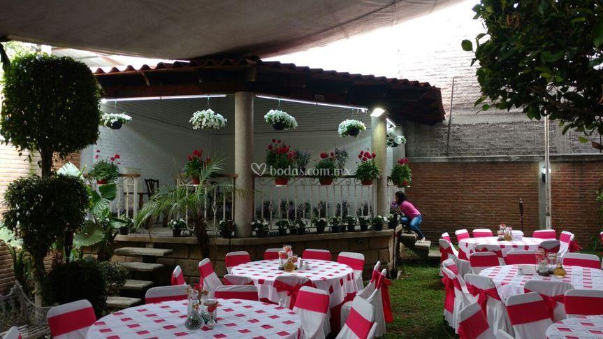 Versalles rojo para boda mexic