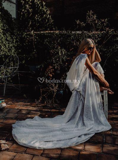 Vestido de Novia Encaje/cola