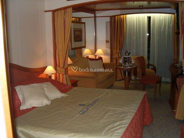Suite con balcón (Silversea)