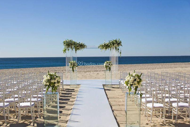 Ceremonia en playa de Barceló Gran Faro Los Cabos