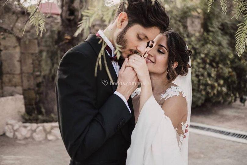 Hermosa boda en jardín