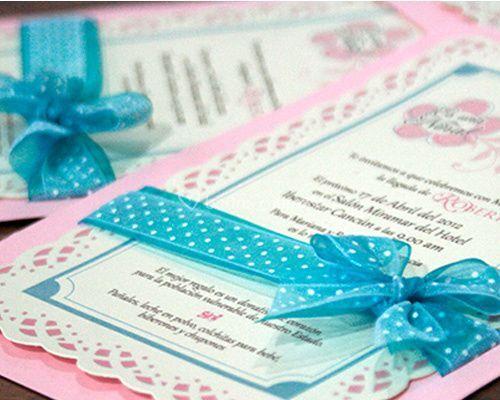 Invitaciones pastel