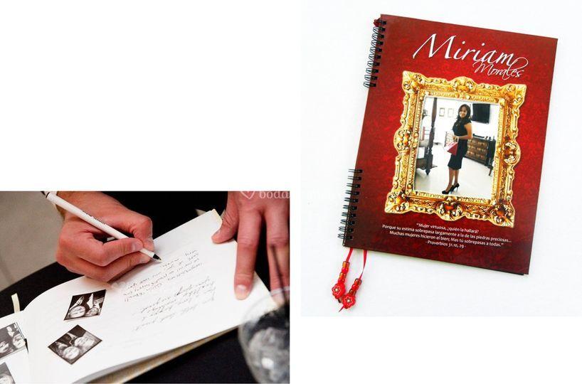 Personaliza tu libro de firmas